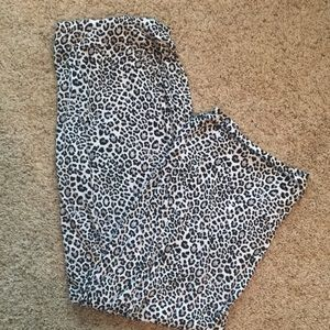 Soma luscious jersey leopard  lounge pj bottoms